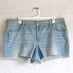 Universal Thread 22W 24W Midi Jean Shorts Blue